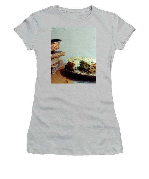 A Gourmet Torte Women's T-Shirt (Junior Cut) by Romulo Yanes