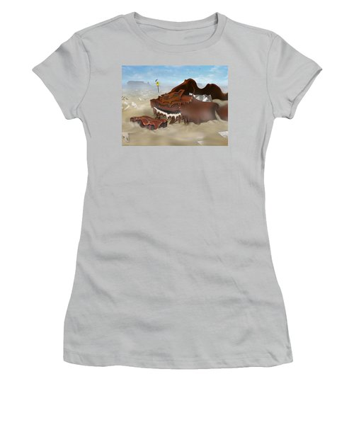 A Slow Death In Piano Valley - Panoramic Women's T-Shirt (Athletic Fit)