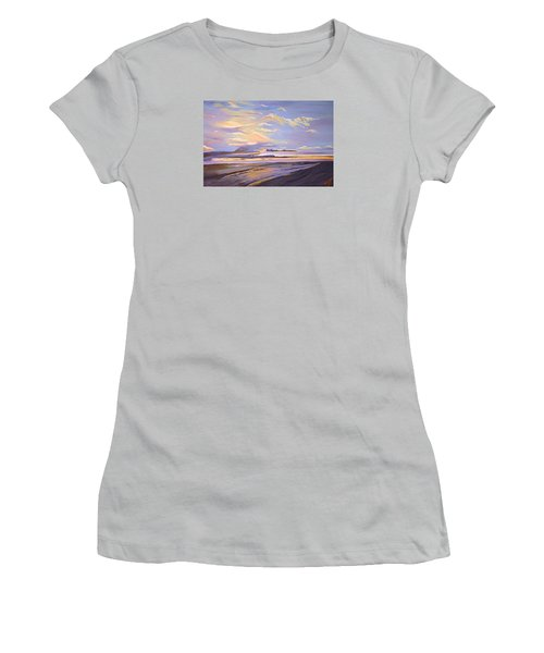 Women's T-Shirt (Junior Cut) featuring the painting A South Facing Shore by Donna Blossom