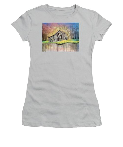 Abandoned By The Water Women's T-Shirt (Athletic Fit)
