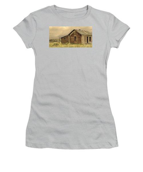 Women's T-Shirt (Junior Cut) featuring the photograph Abandoned by Nick  Boren