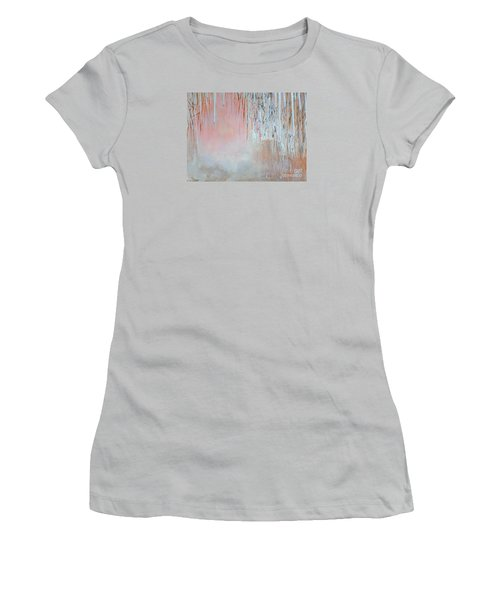 Women's T-Shirt (Junior Cut) featuring the painting Abstract Spring by Donna Dixon