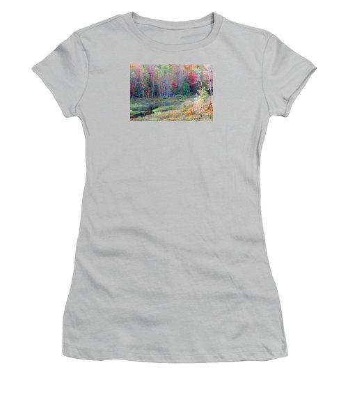 Adirondack Fall Women's T-Shirt (Junior Cut) by Mariarosa Rockefeller