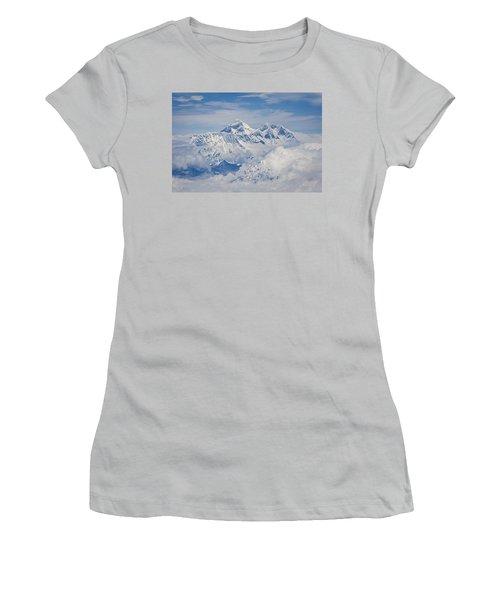 Aerial View Of Mount Everest Women's T-Shirt (Junior Cut)