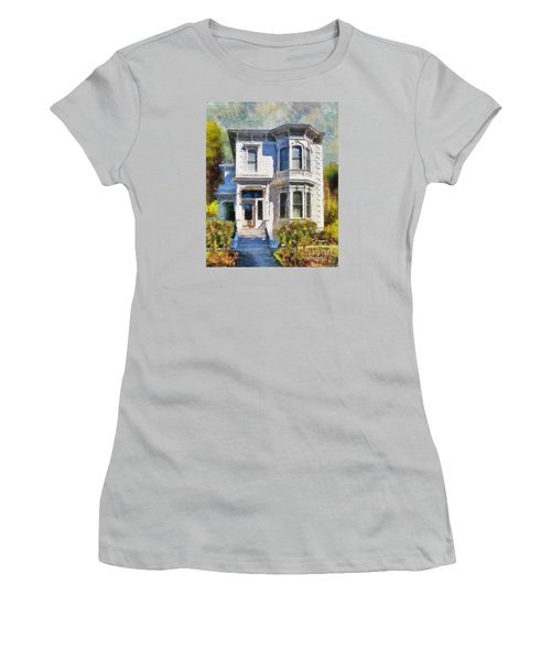 Alameda 1880 - Queen Anne  Women's T-Shirt (Junior Cut) by Linda Weinstock