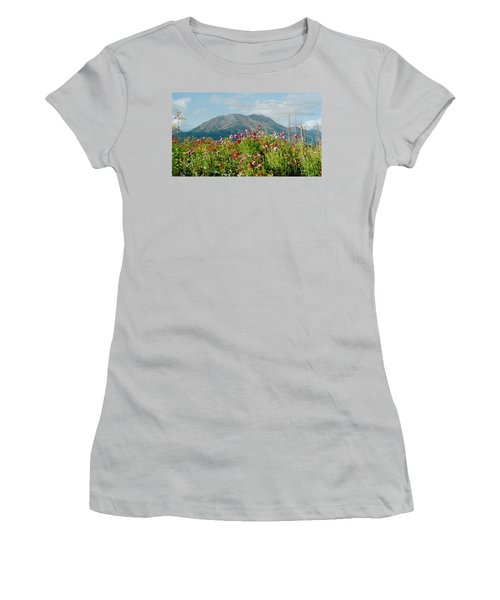 Alaska Flowers In September Women's T-Shirt (Athletic Fit)