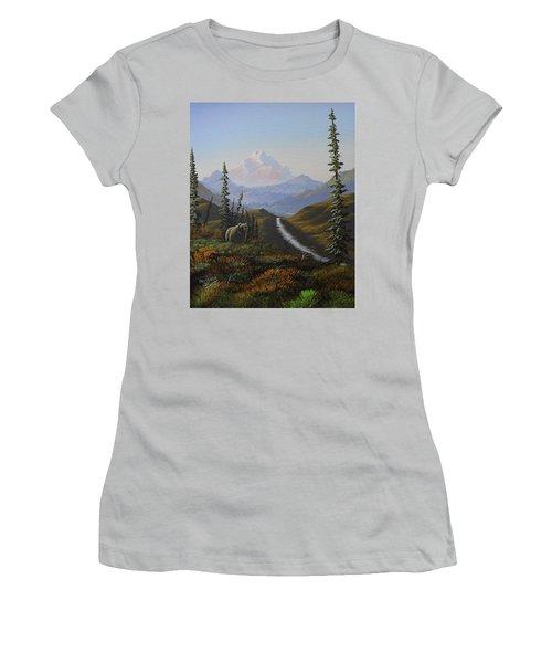 Alaskan Brown Bear Women's T-Shirt (Junior Cut) by Richard Faulkner