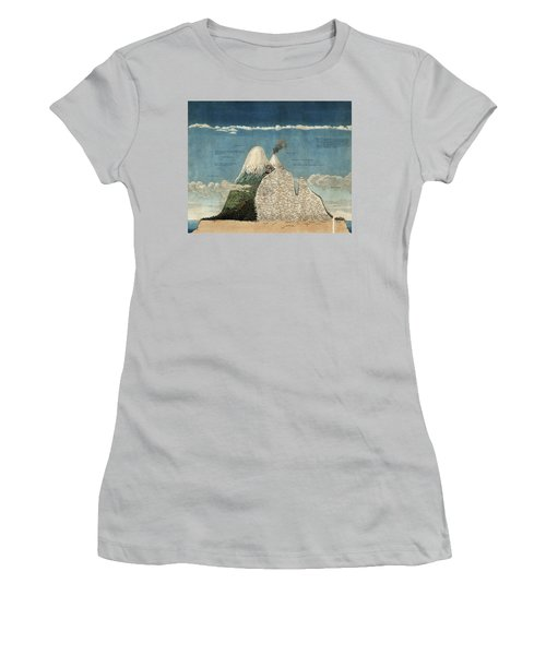 Alexander Von Humboldts Chimborazo Map Women's T-Shirt (Athletic Fit)