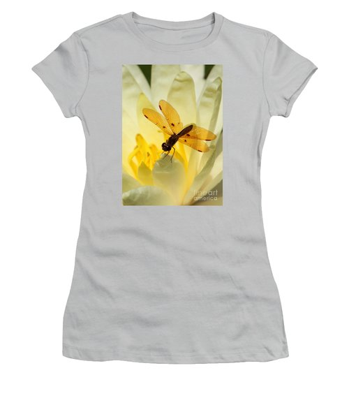 Amber Dragonfly Dancer Women's T-Shirt (Athletic Fit)