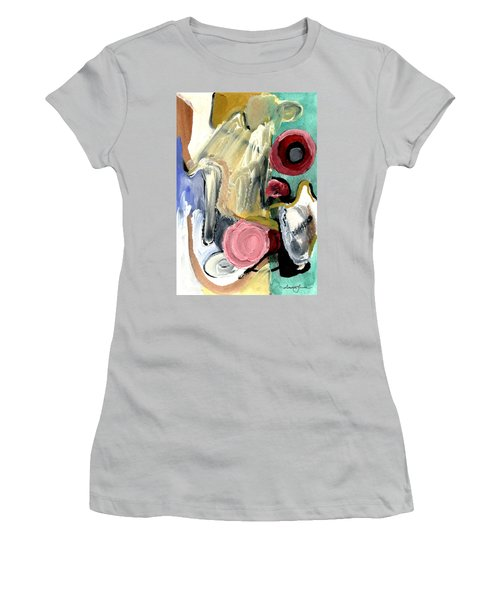 Women's T-Shirt (Junior Cut) featuring the painting American Beauty by Stephen Lucas