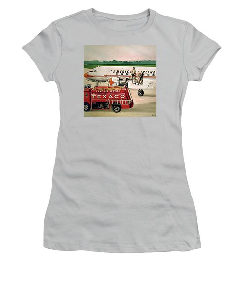 American Dc-6 At Columbus Women's T-Shirt (Athletic Fit)