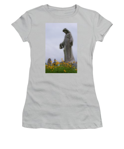 Among The Flowers Women's T-Shirt (Athletic Fit)