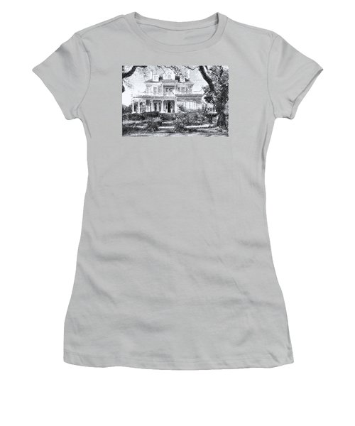 Anthemion At 4631 St Charles Ave. New Orleans Sketch Women's T-Shirt (Athletic Fit)