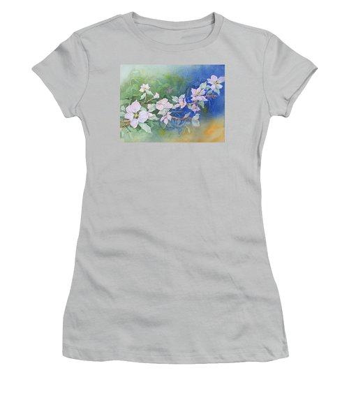 Apple Blossoms 2 Women's T-Shirt (Junior Cut) by Christine Lathrop