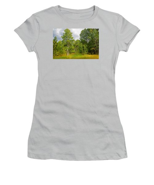 Women's T-Shirt (Junior Cut) featuring the photograph Aspen And Others by Jim Thompson