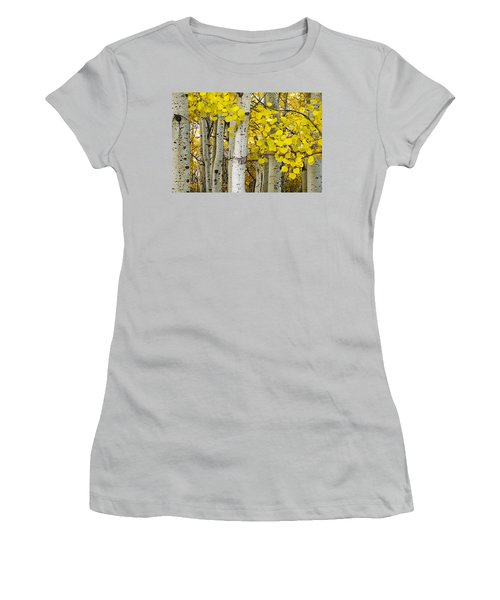 Aspens At Autumn Women's T-Shirt (Athletic Fit)