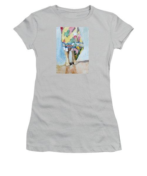 At The Beach 1  Women's T-Shirt (Junior Cut) by Becky Kim