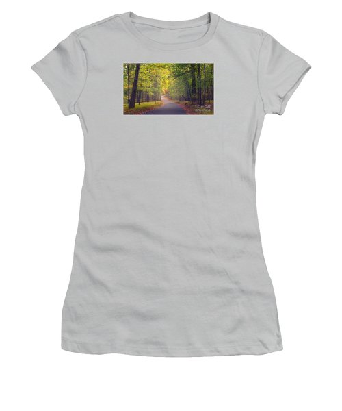 Autumn Road Women's T-Shirt (Junior Cut) by Rima Biswas