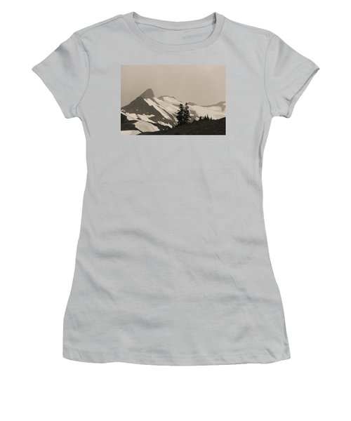 Women's T-Shirt (Junior Cut) featuring the photograph Fog In Mountains by Yulia Kazansky
