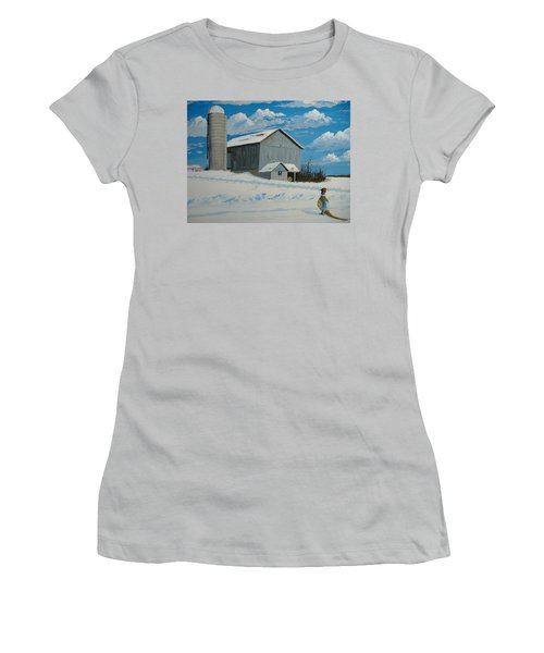 Barn And Pheasant Women's T-Shirt (Athletic Fit)