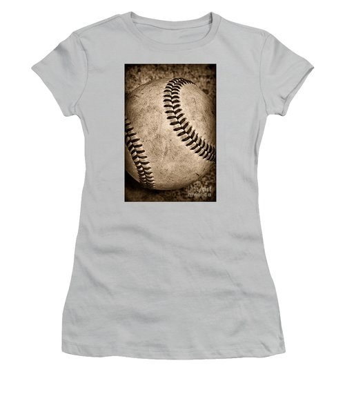 Baseball Old And Worn Women's T-Shirt (Athletic Fit)