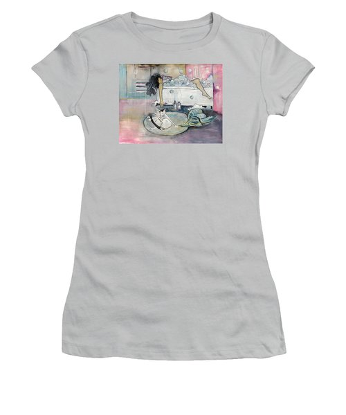 Bath Time Women's T-Shirt (Junior Cut) by Leela Payne