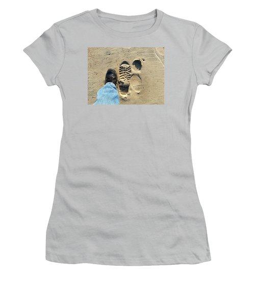 Beach Of Big Feet Women's T-Shirt (Junior Cut) by Lon Casler Bixby