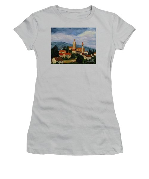 Bell Tower Of Vinci Women's T-Shirt (Athletic Fit)