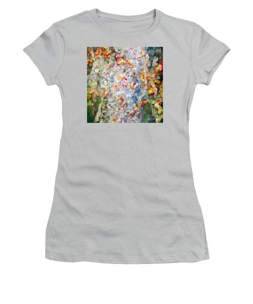Berries Around The Tree - Abstract Art Women's T-Shirt (Junior Cut) by Kerri Farley