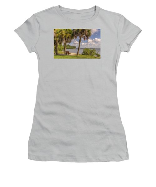 Women's T-Shirt (Junior Cut) featuring the photograph Beside The Shore by Jane Luxton