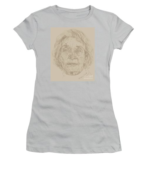 Women's T-Shirt (Junior Cut) featuring the drawing Beverly by  Maestro
