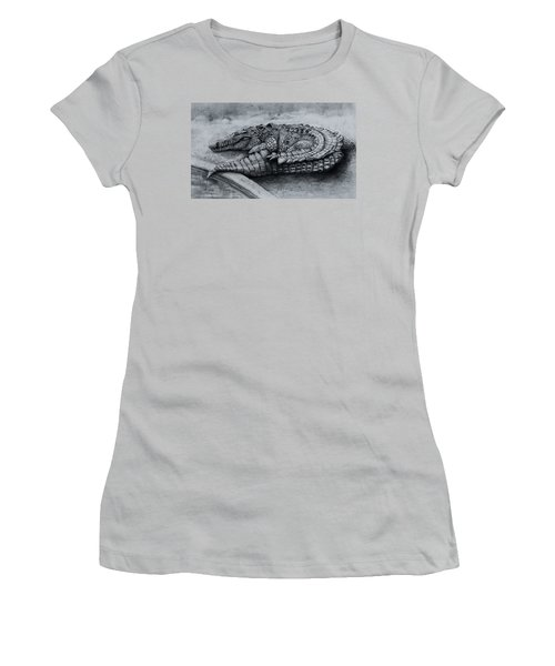 Big Daddy A Drawing Women's T-Shirt (Athletic Fit)