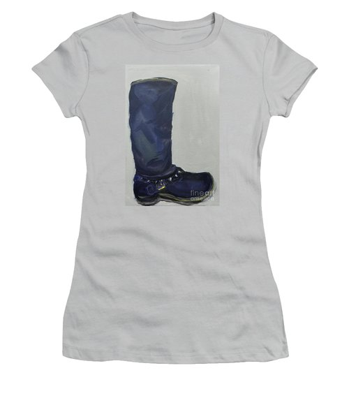 Biker Boot Women's T-Shirt (Athletic Fit)