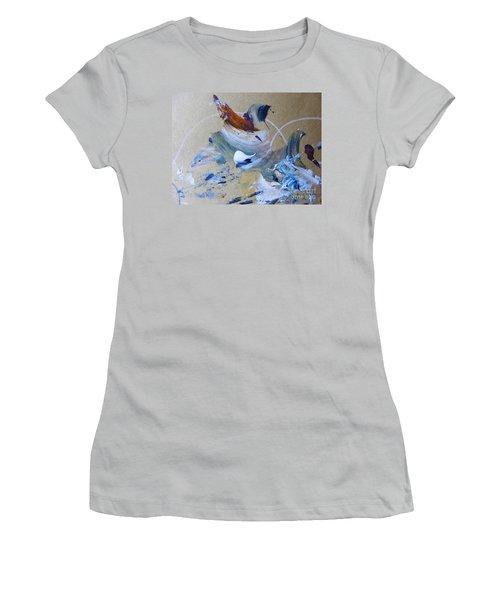 Bird Song Women's T-Shirt (Junior Cut) by Nancy Kane Chapman