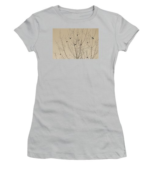 Birds Gather Women's T-Shirt (Athletic Fit)