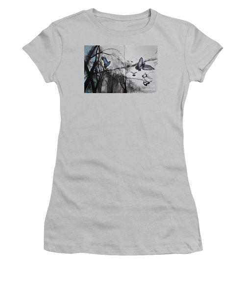 Women's T-Shirt (Junior Cut) featuring the photograph Birds by Maja Sokolowska