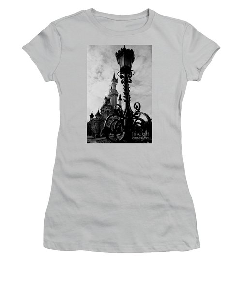 Black And White Fairy Tale Women's T-Shirt (Athletic Fit)