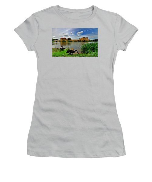 Black Swans At Leeds Castle II Women's T-Shirt (Athletic Fit)