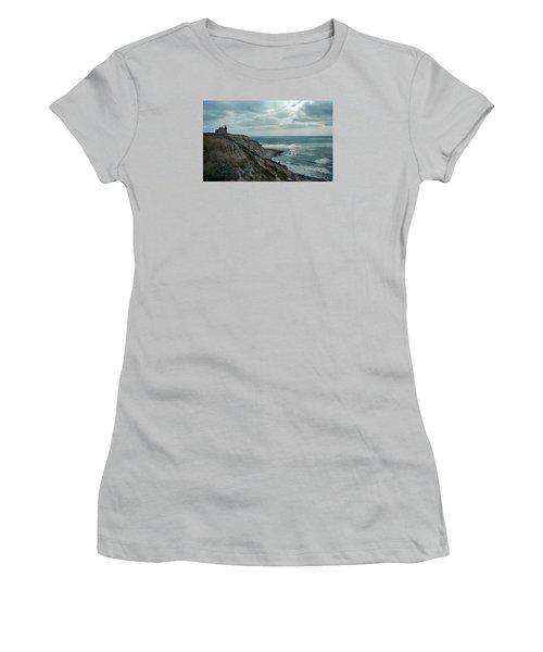 Block Island South East Lighthouse Women's T-Shirt (Junior Cut) by Skip Willits