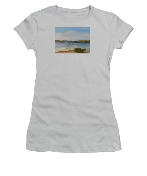 Boat On The Beach Women's T-Shirt (Athletic Fit)