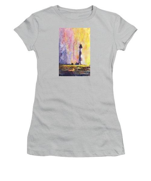 Bodie Island Lighthouse Women's T-Shirt (Junior Cut) by Ryan Fox