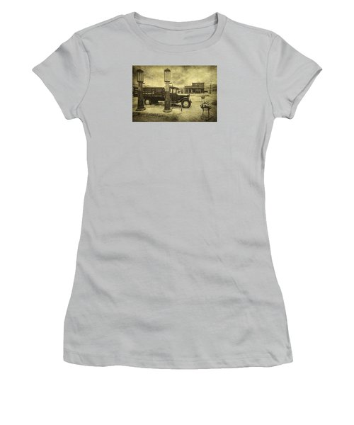 Women's T-Shirt (Junior Cut) featuring the photograph Bodie Memories by Priscilla Burgers