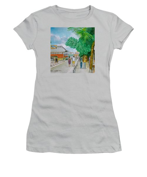 Bonaire Street Women's T-Shirt (Junior Cut) by Frank Hunter
