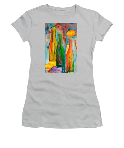 Bottles And Lemons Women's T-Shirt (Athletic Fit)