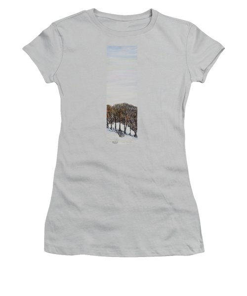 Women's T-Shirt (Junior Cut) featuring the painting Branch Broken by Marilyn  McNish