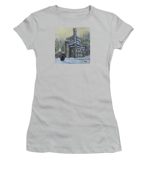 Brandeis University Castle Women's T-Shirt (Athletic Fit)