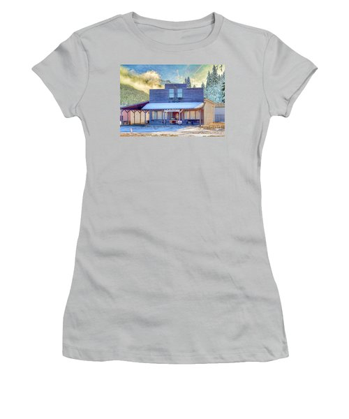 Women's T-Shirt (Junior Cut) featuring the photograph Brauer Real Estate Linwood Kansas by Liane Wright