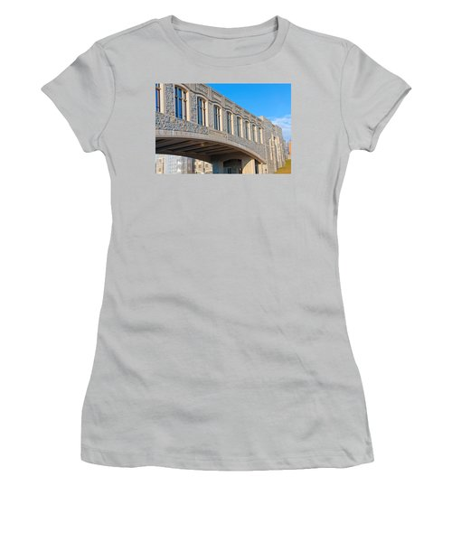 Bridge At Virginia Tech Women's T-Shirt (Junior Cut) by Melinda Fawver