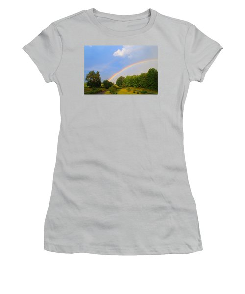 Women's T-Shirt (Junior Cut) featuring the photograph Bright Rainbow by Kathryn Meyer