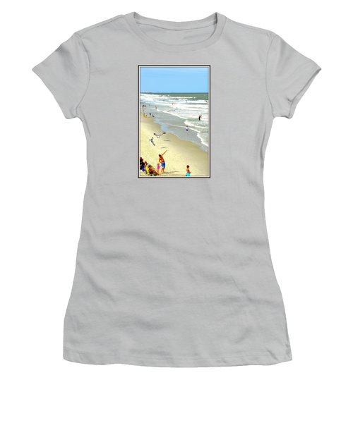 But Daddy Why Cant I Feed The Birds Women's T-Shirt (Junior Cut) by Kathy Barney